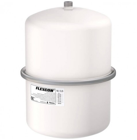 Flamco Flexcon expansievat kleur wit 0,5 bar 18 liter