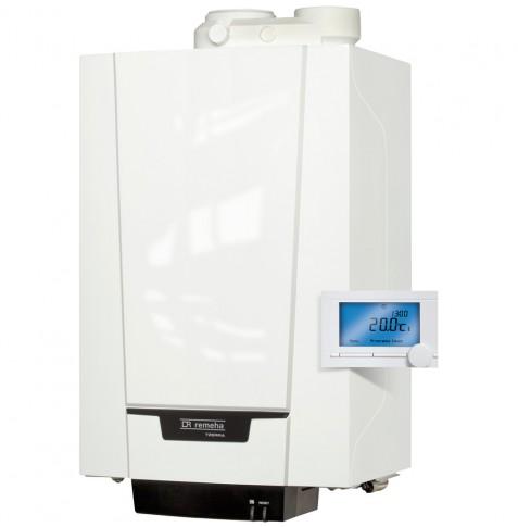 Remeha Tzerra Comfort systeem M 28c PLUS HR Combiketel met A-label pomp inclusief iSense klokthermostaat 6,1 - 24,8 kW CW4