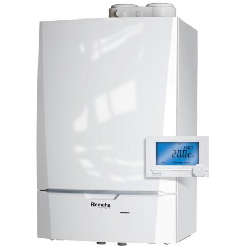 Remeha Calenta Combi Comfort systeem 28 HR Combiketel inclusief iSense klokthermostaat 5,6 - 25,5 kW CW4