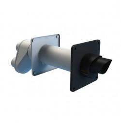 Burgerhout Safe-PP kunststof concentrische gevelset 80/125mm